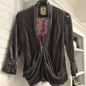 Anthropologie Velvet Jacket